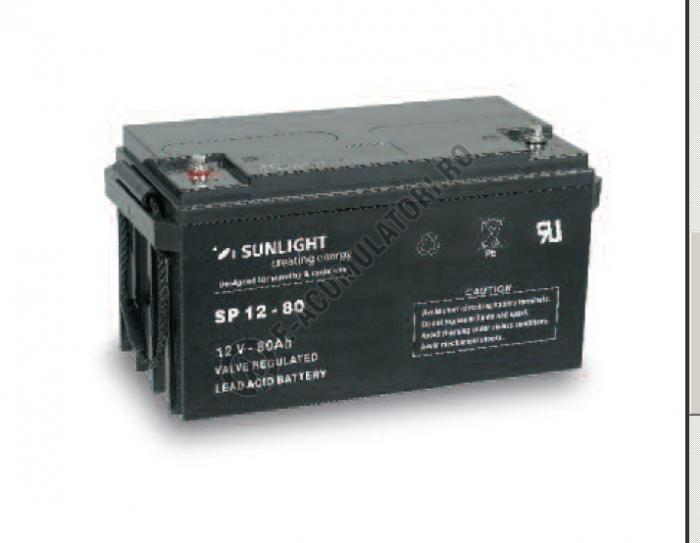 Acumulator VRLA SUNLIGHT 12V 80 Ah cod SPB 12-80-big