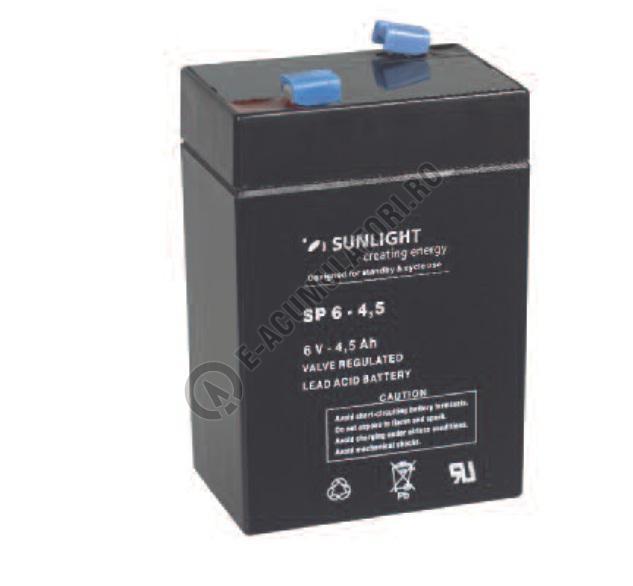 Acumulator VRLA SUNLIGHT 6V 4.5 Ah cod SPA 6-4.5-big