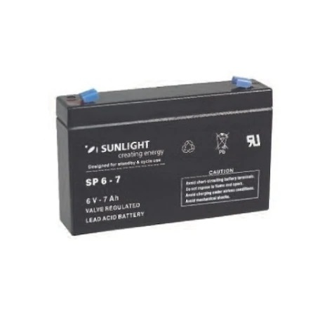 Acumulator VRLA SUNLIGHT 6V 7 Ah cod SPA 6-7-big