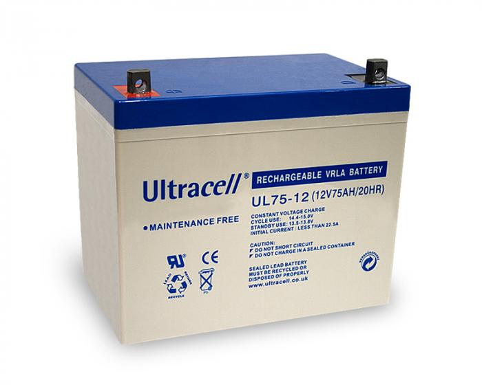 Acumulator VRLA Ultracell 12V, 75Ah UL75-12-big
