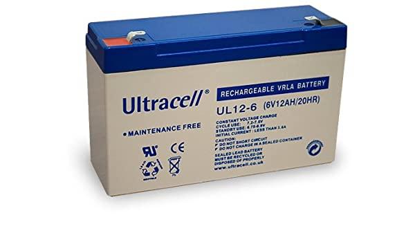 Acumulator VRLA Ultracell 6V 12 Ah UL12-6-big
