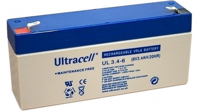 Acumulator VRLA Ultracell 6V 3.4 Ah cod UL3.4-6-big