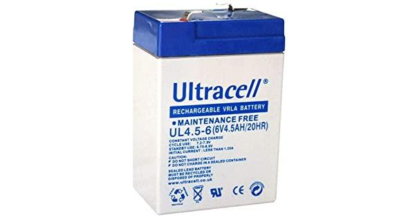 Acumulator VRLA Ultracell 6V, 4.5Ah UL4.5-6-big