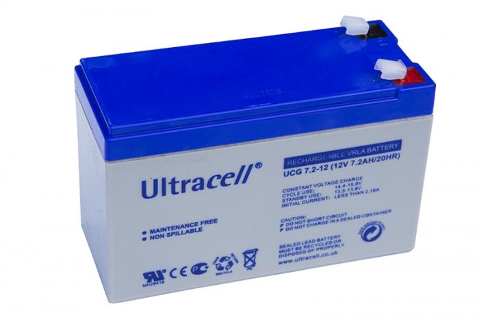 Acumulator VRLA Ultracell cu GEL 12V, 7.2Ah UCG7.2-12-big