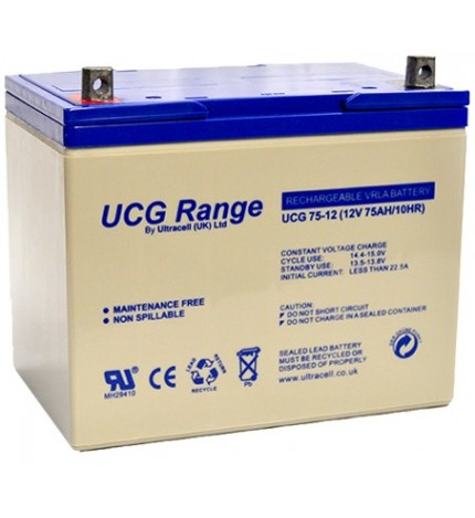 Acumulator VRLA Ultracell GEL Deep Cycle 12V 75 Ah UCG75-12-big