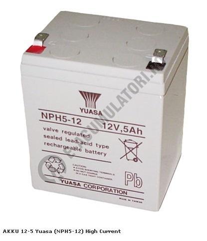Acumulator VRLA Yuasa 12V 5 Ah NPH5-12-big