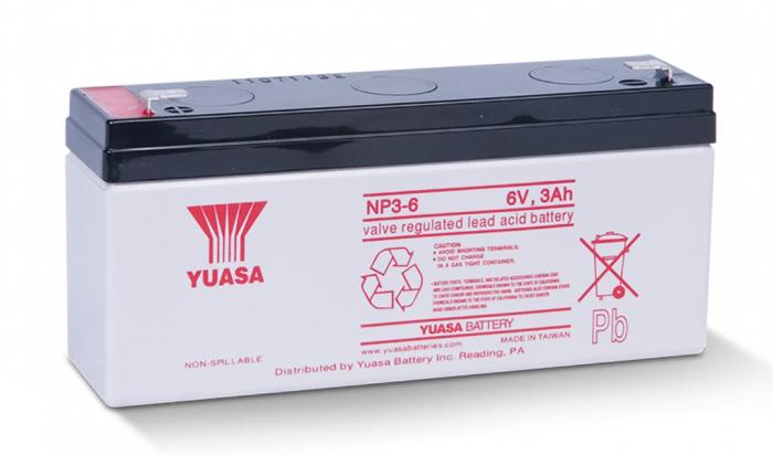 Acumulator VRLA Yuasa 6V, 3 Ah NP3-6-big