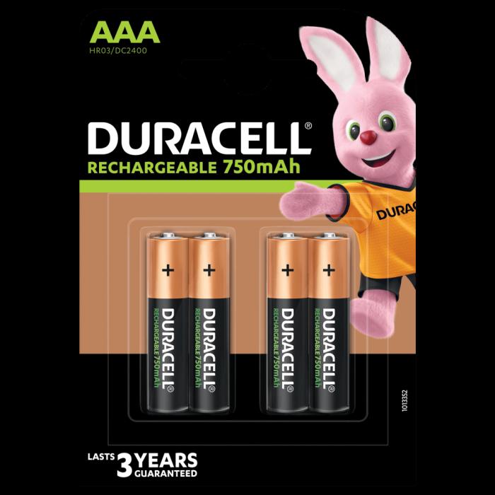 Acumulatori Duracell Duralock AAA 750 mAh, blister 4 buc, preincarcati-big