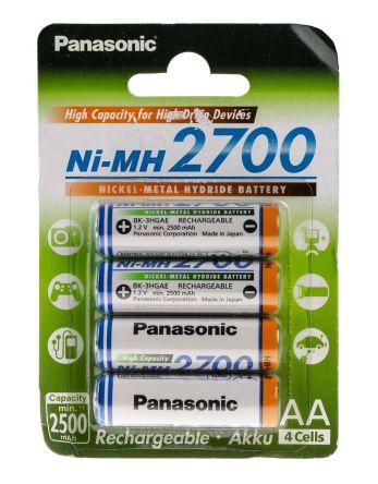 Acumulatori Panasonic AA, 2700 mAh, blister de 4 buc. BK-3HGAE/4BE-big