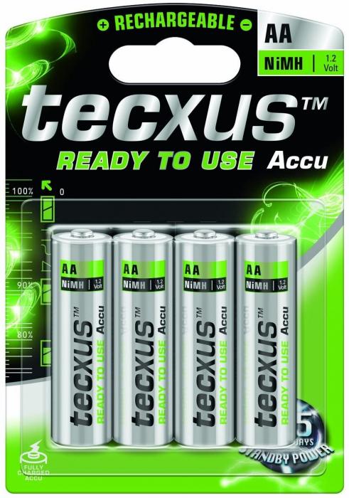 Acumulatori Tecxus AA 2100 mAh, preincarcati, gata de utilizare, blister de 4 buc-big