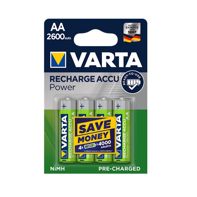Acumulatori Varta Power AA R6 2600 mah preincarcati blister 4 buc 05716-big