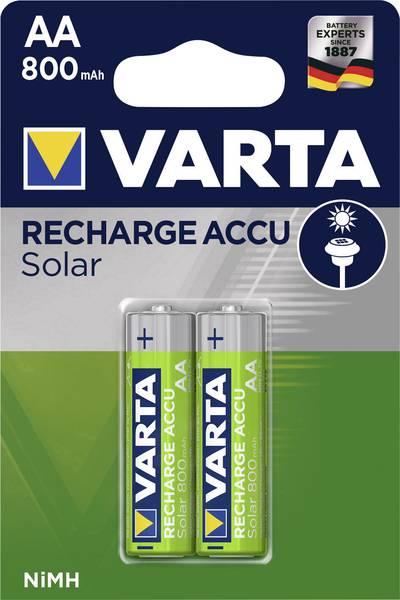 Acumulatori Varta Solar AA R6 800 mah preincarcati blister 2 buc 56736-big