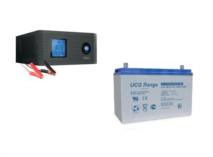 Pachet UPS pt centrala termica Aira 600VA 500W + Acumulator GEL 12V 100 Ah-big