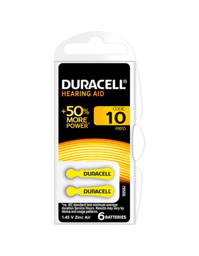 Baterie acustica Duracell DA10, blister 6 buc-big