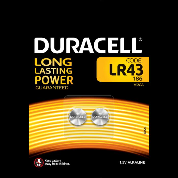 Baterie alcalina Duracell LR43 1.5V blister 2 buc-big