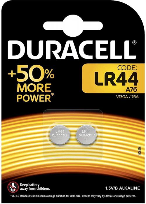 Baterie alcalina Duracell LR44 1.5V blister 2 buc-big