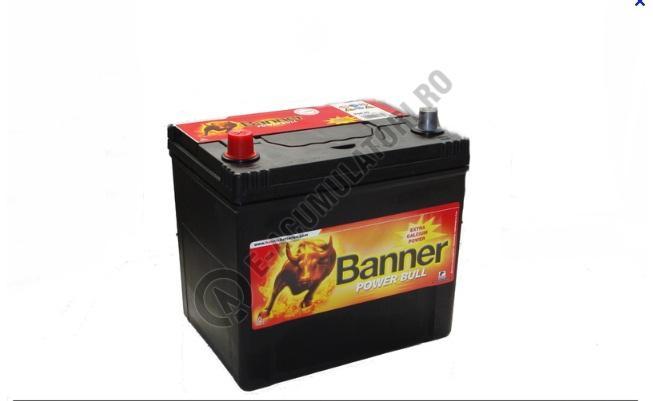 Acumulator Auto Banner Power Bull 60 ah borne inverse JAPAN cod P6069-big