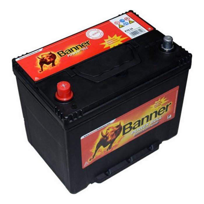 Baterie Auto Banner Power Bull 70 ah borne inverse JAPAN cod P7024-big
