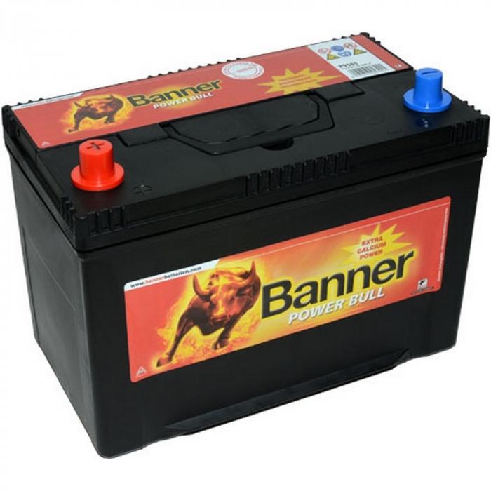 Baterie Auto Banner Power Bull 95 ah borne inverse JAPAN cod P9505-big