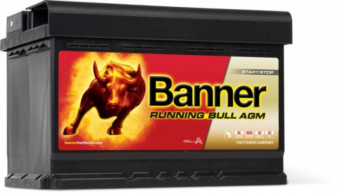 Baterie Auto Banner Running Bull AGM 70 ah cod 57001-big