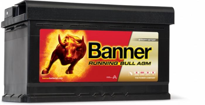 Baterie Auto Banner Running Bull AGM 80 ah cod 58001-big