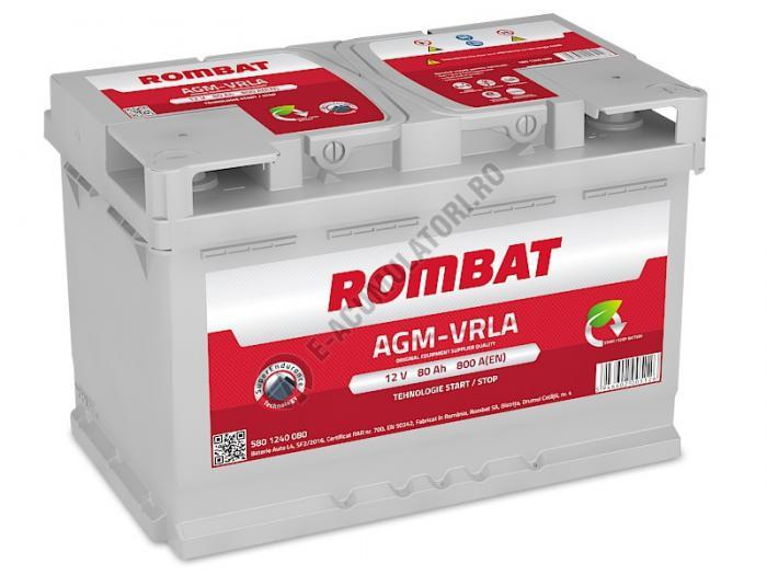 Baterie Auto Rombat AGM VRLA 80 Ah-big