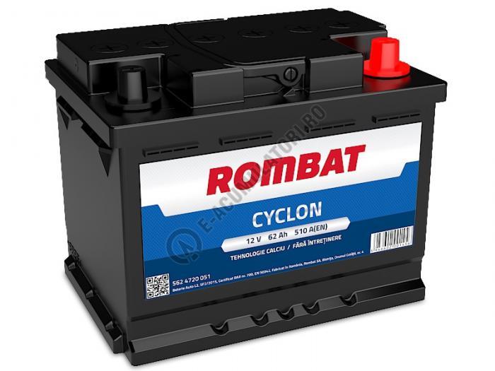Baterie Auto Rombat Cyclon Calciu 12 V 62 Ah-big