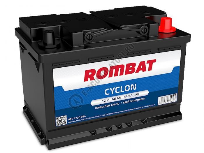 Baterie auto Rombat Cyclon Calciu 12 V  66 Ah-big