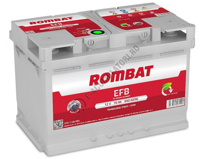 Baterie Auto Rombat EFB 12 V 70 Ah-big