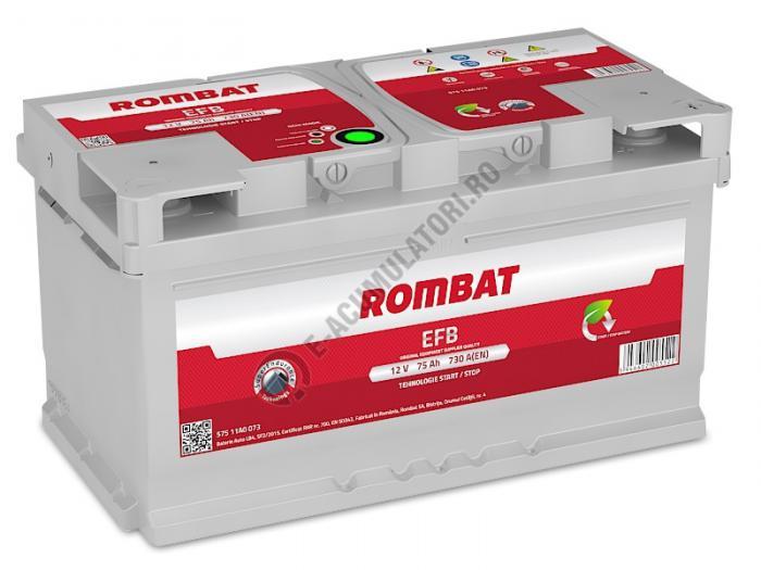 Baterie Auto Rombat EFB 12 V 75 Ah-big
