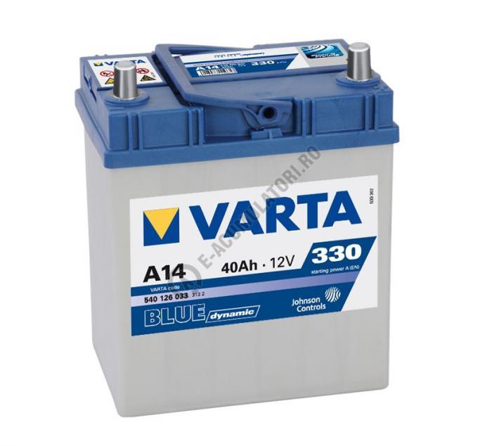 BATERIE AUTO VARTA BLUE 40 Ah cod A14 - 5401260333132-big