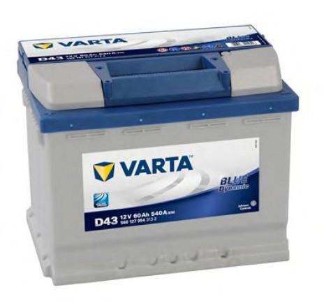 BATERIE AUTO VARTA BLUE 60 Ah borne inverse cod D43 - 5601270543132-big
