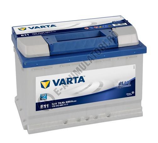 BATERIE AUTO VARTA BLUE 74 Ah cod E11 - 5740120683132-big
