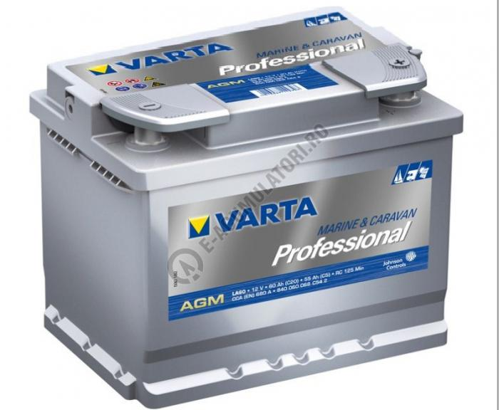 BATERIE AUTO VARTA PROFESSIONAL AGM 60 Ah cod LA 60 - 840060068C542-big