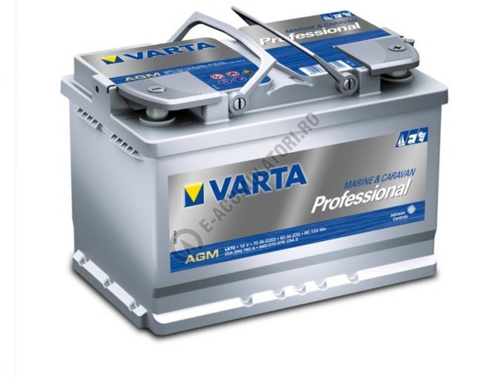 BATERIE AUTO VARTA PROFESSIONAL AGM 70 Ah cod LA 70 - 830070045B922-big