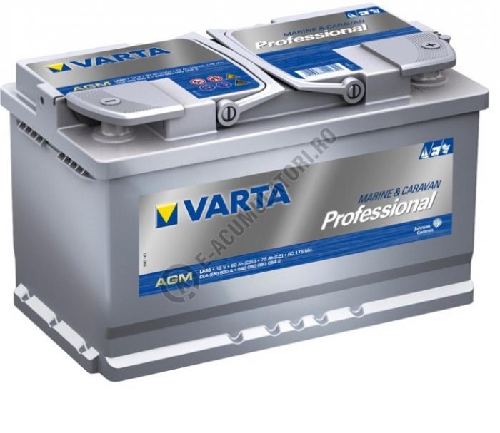 BATERIE AUTO VARTA PROFESSIONAL AGM 80 Ah cod LA 80 - 840080080C542-big