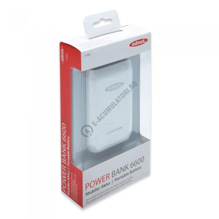 Acumulator extern Ednet Power Bank 6600mAh cod 31882-big