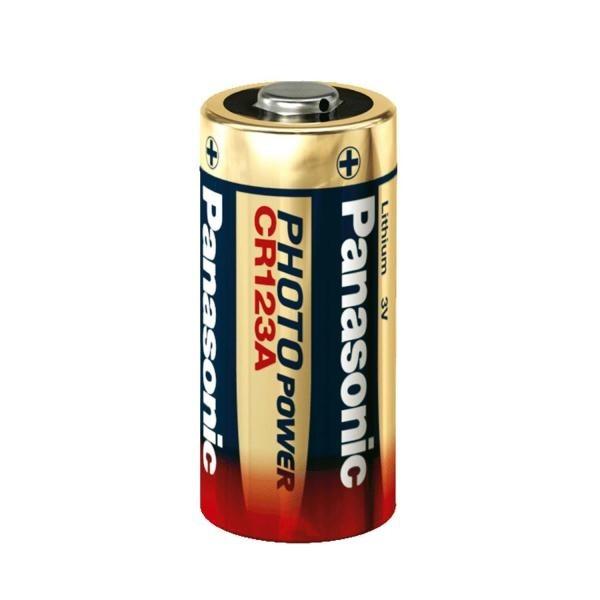 Baterie litiu 3V Panasonic CR123, blister 1 buc-big
