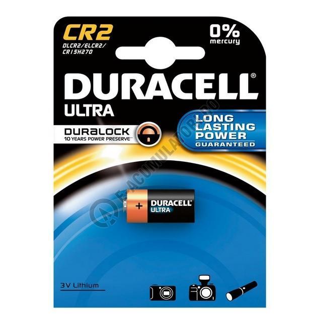Baterie litiu Duracell 3V, CR2 blister 1 buc-big