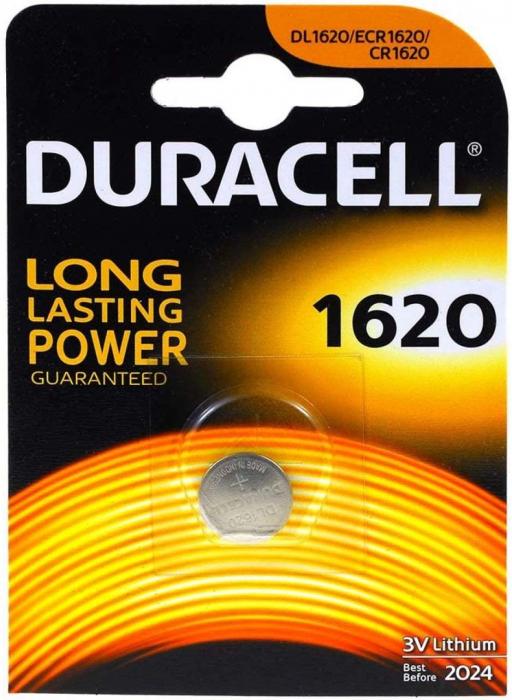 Baterie litiu Duracell DL 1620, blister 1 buc-big