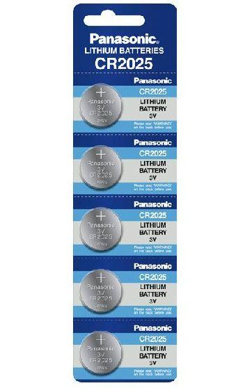 Baterie litiu Panasonic CR 2025 3V blister 5 buc-big
