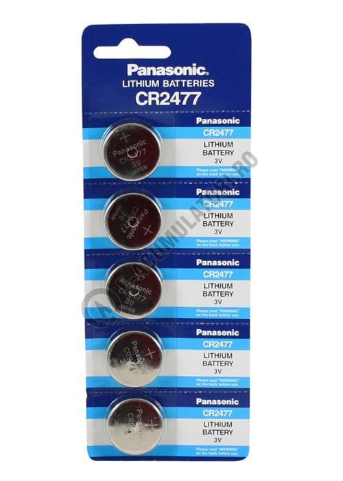Baterie litiu Panasonic CR 2477, 3V, blister 5 buc-big