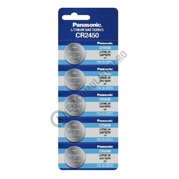 Baterie Litiu Panasonic CR2450 3V blister 5 buc-big