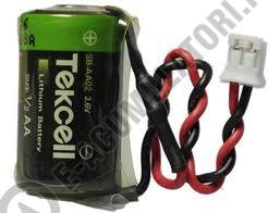 Baterie Litiu Tekcell 14250 1/2AA 3.6V cod ER14250VDO cu cabluri 1200mAh-big