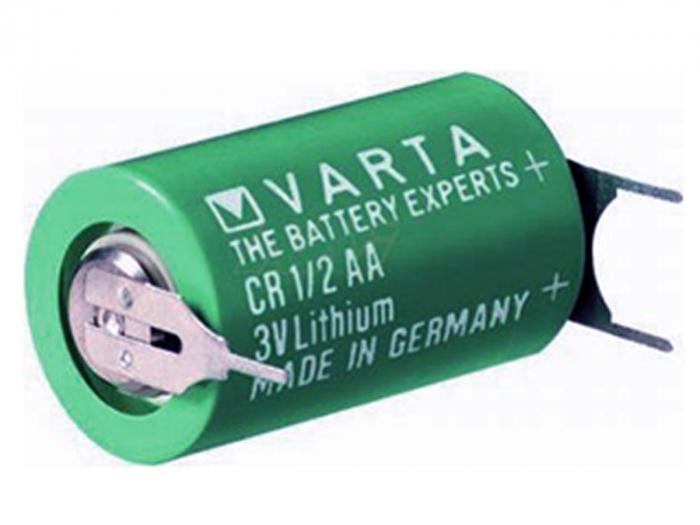 Baterie litiu Varta CR1/2AA 3V 950mAh 3 pini CR1/2AA-PCB-big