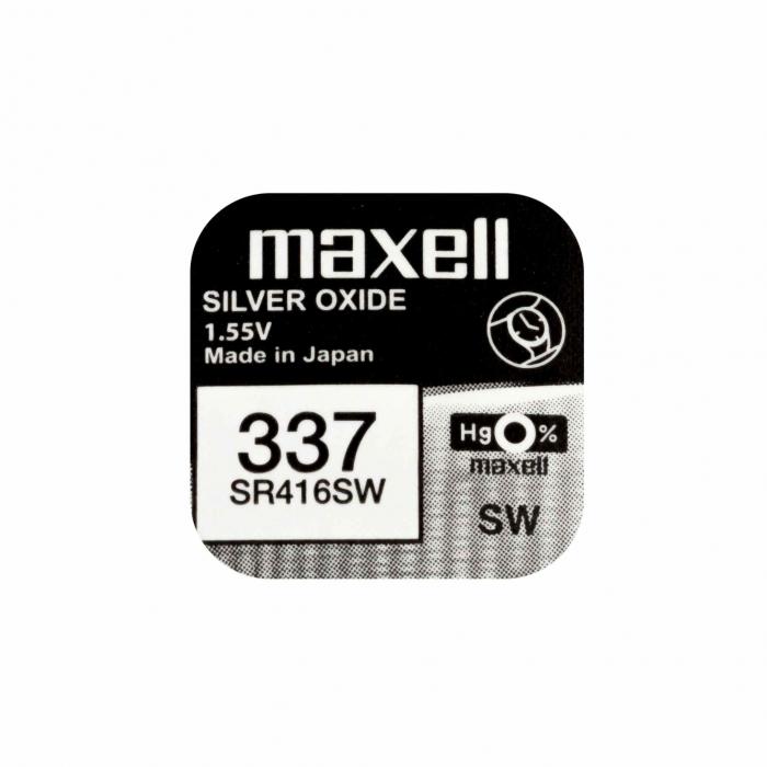 Baterie Maxell 337 SR416SW , blister 1 buc-big