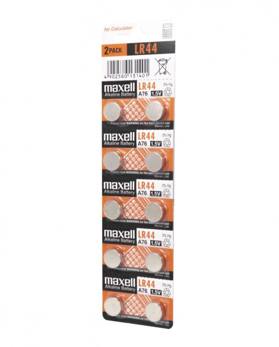 Baterie Maxell LR44 blister 10 buc-big