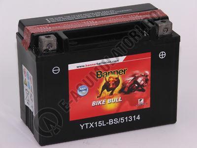 Baterie MOTO BANNER BIKE BULL AGM 12V 13 Ah YTX15L-BS cod 513 14-big