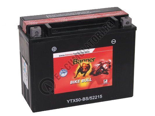 Baterie MOTO BANNER BIKE BULL AGM borne inverse 12V 22 Ah YTX50-BS cod 522 15-big