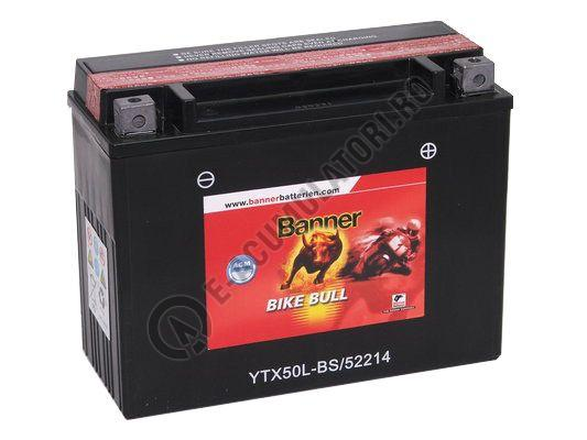 Baterie MOTO BANNER BIKE BULL AGM 12V 22 Ah YTX50L-BS cod 522 14-big
